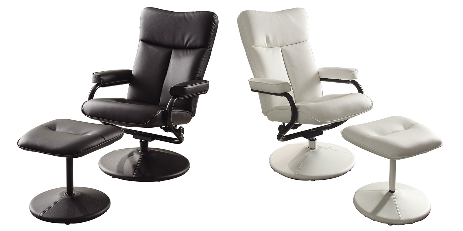 Homelegance Swivel Reclining Chair With Ottoman Gliders
