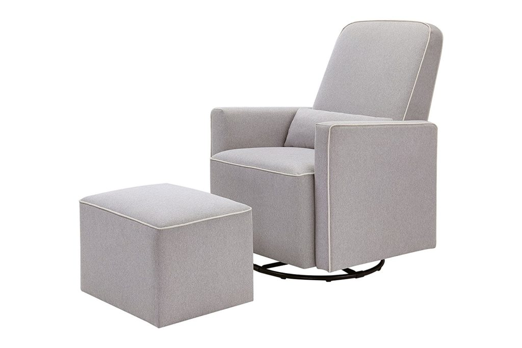 swivel glider with ottoman