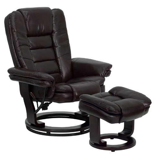 swivel recliner chairs brown