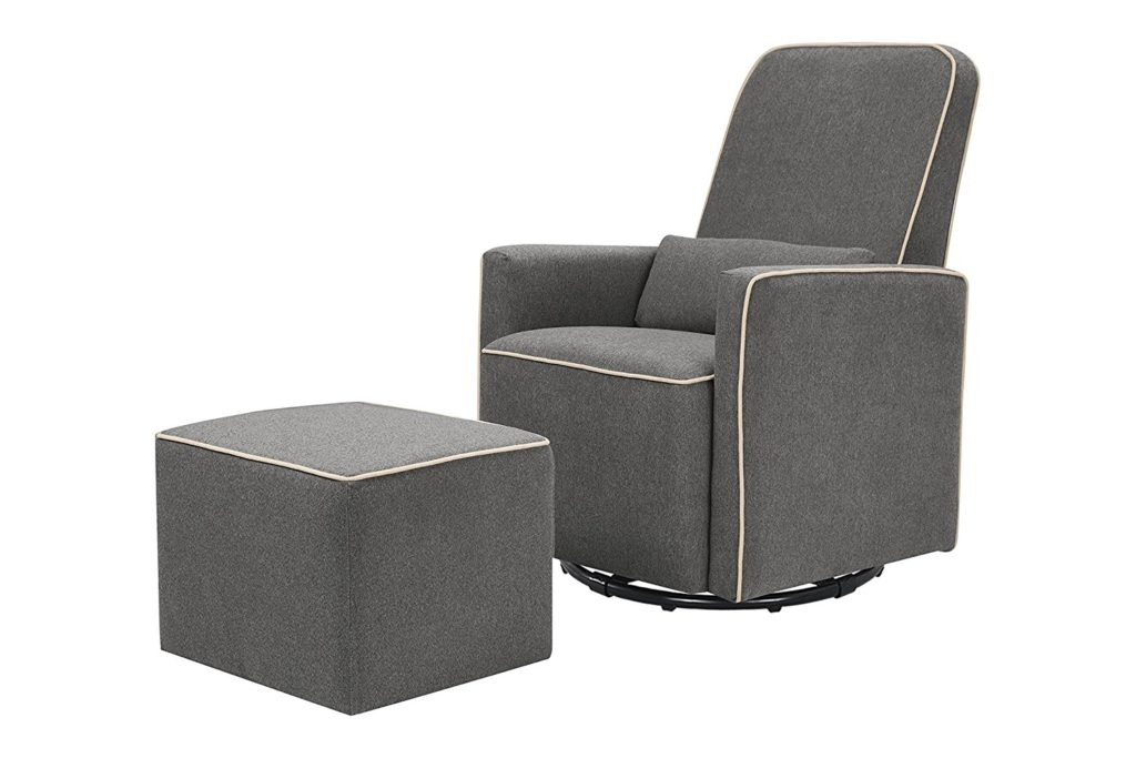DaVinci Olive Upholstered Swivel Glider and Ottoman Set