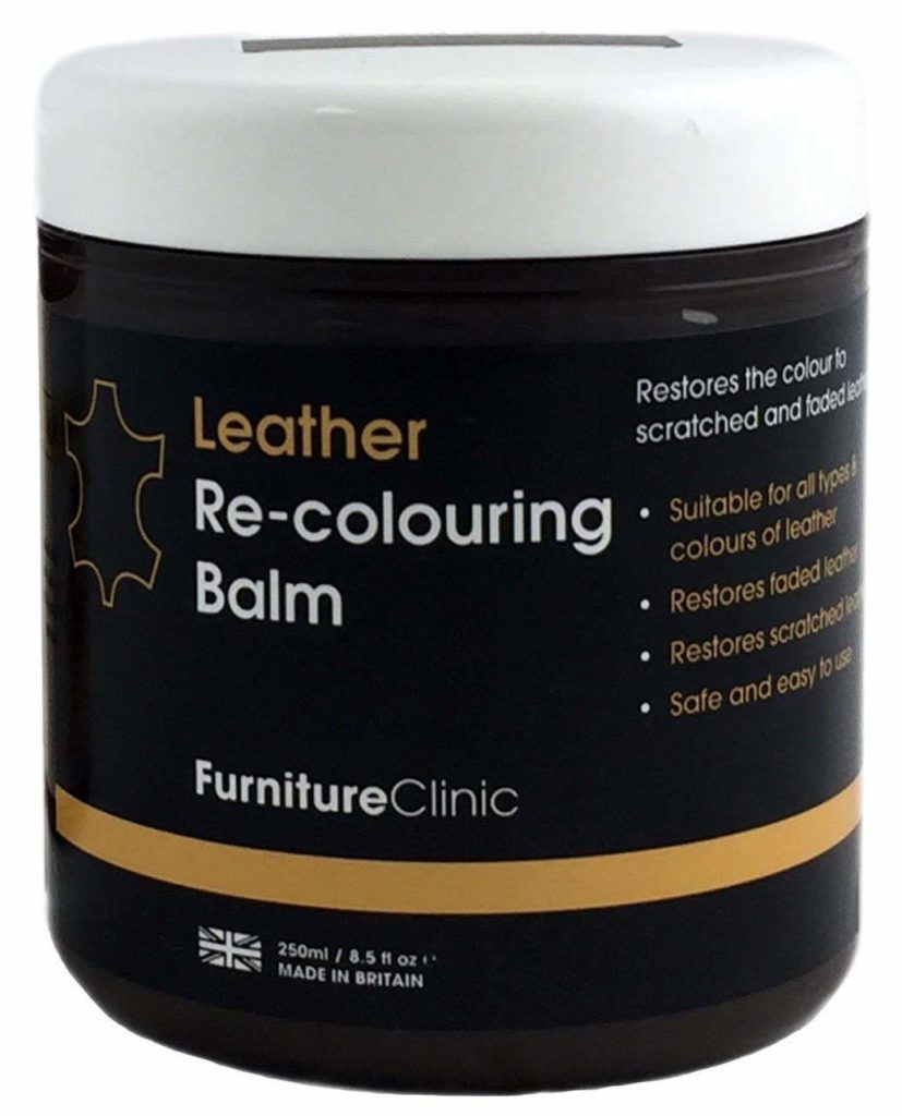Furniture Clinic Leather Re-Coloring Balm - Renew and Restore Color to Faded and Scratched Leather